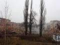 28.12.2011 Bytom. Rozbiorka domow w dzielnicy Karb. Nieodwracalne uszkodzenia budynkow spowodowane byly przez kopalnie. Fot. Piotr Wojcik